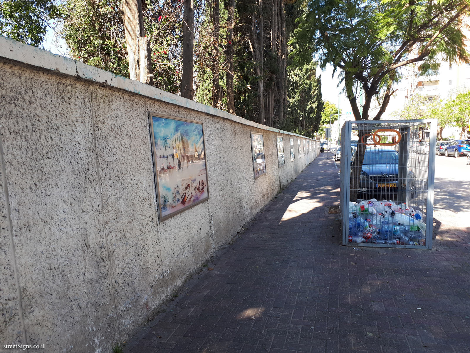 "The wall of art - ""Between Two Hills"" - Weizman St 26, Giv'atayim, Israel"