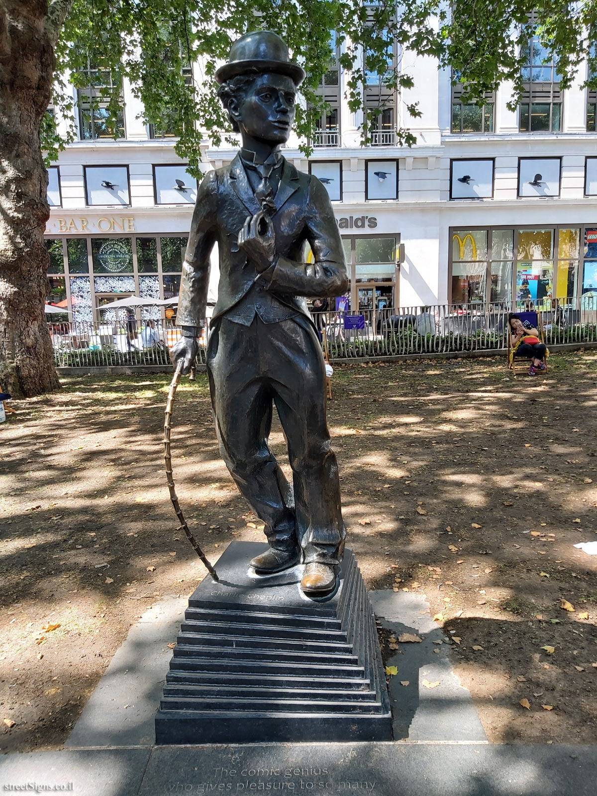 London - Leicester Square - Statue of Charlie Chaplin