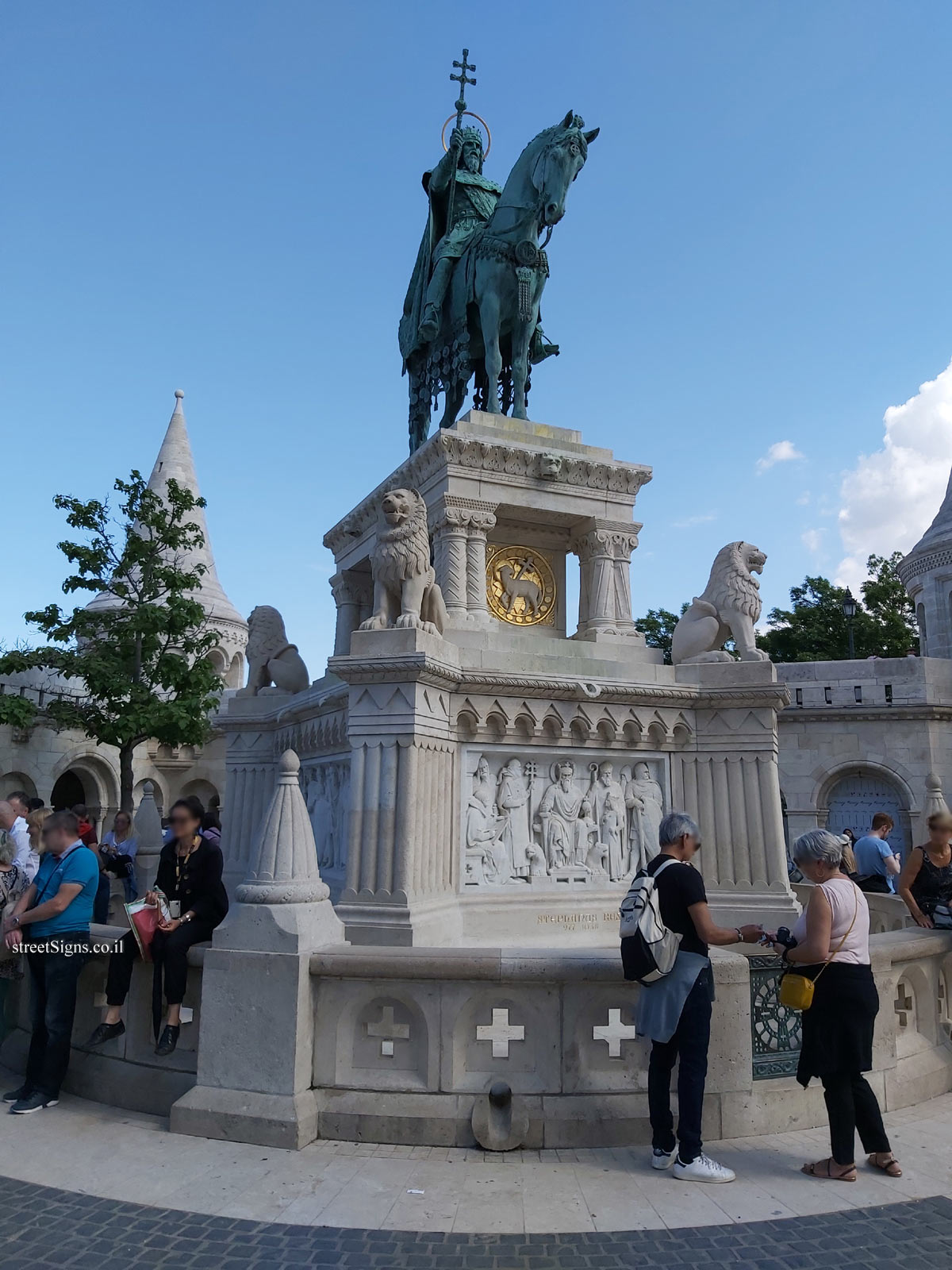 Budapest - The statue of King Saint Stephen's at Fisherman's Bastion