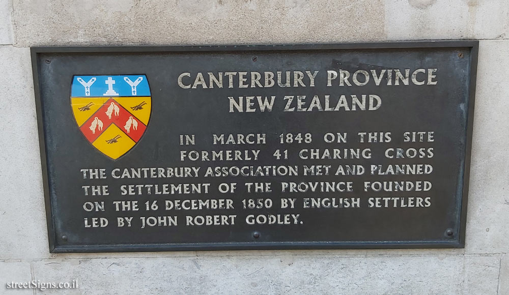 London - The house where Canterbury County - New Zealand was planned