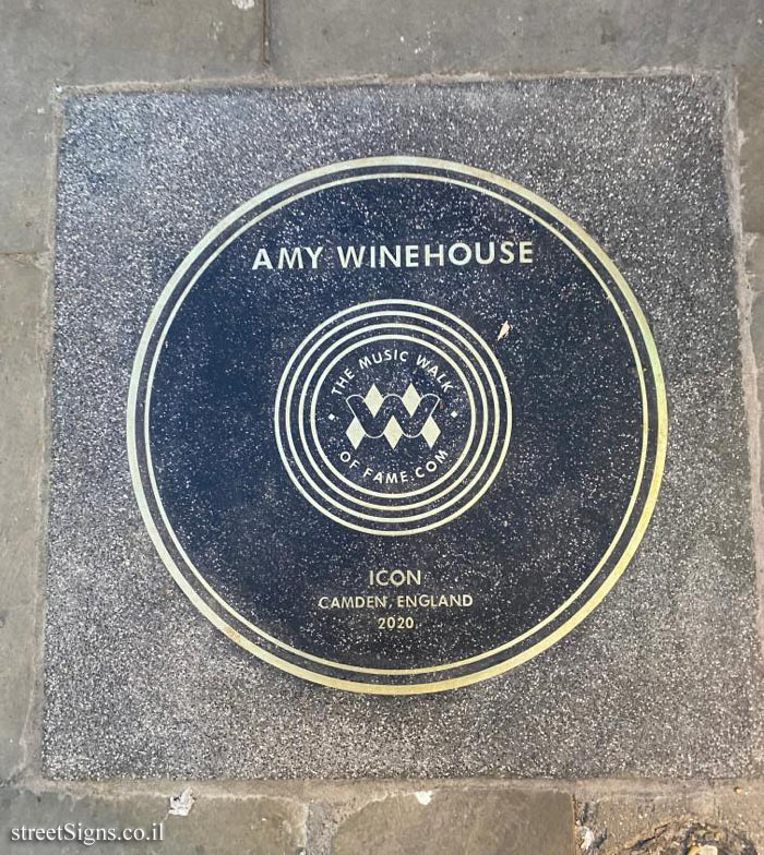 London - The music walk of fame - Amy Winehouse