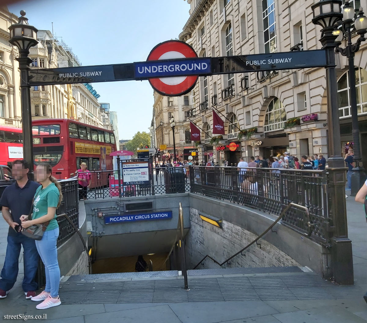 London Underground - Entrance to Piccadilly Circus Station