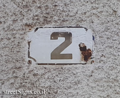 Tel Aviv - House number in old format