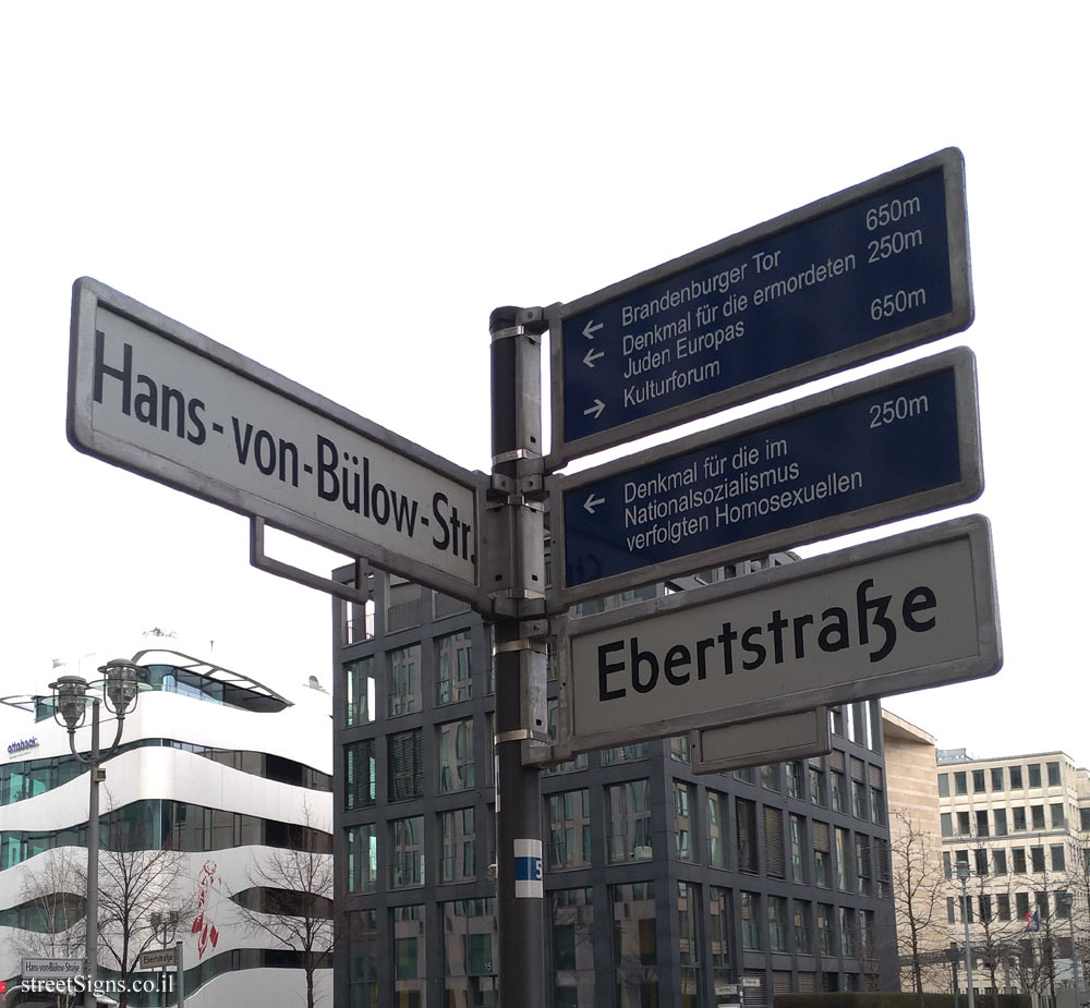 Berlin - Direction sign for streets and central places