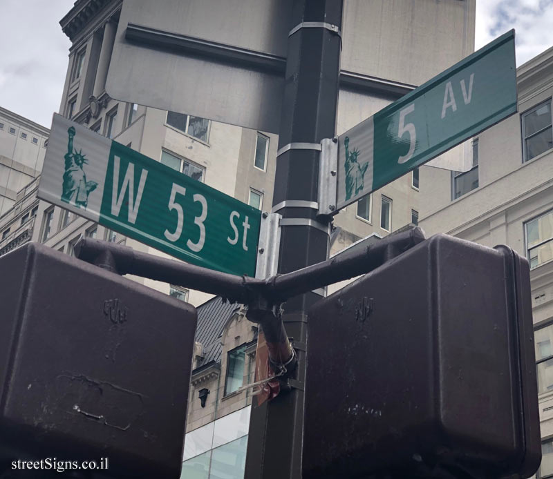 New York - Junction of Fifth Avenue and West 53th Street