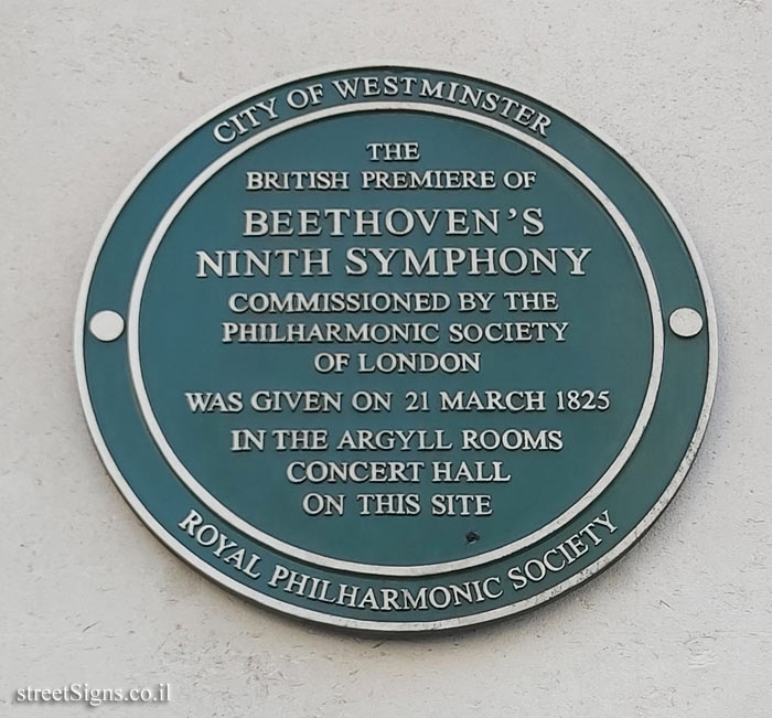 London - Commemorating the first performance of Beethoven's Ninth Symphony