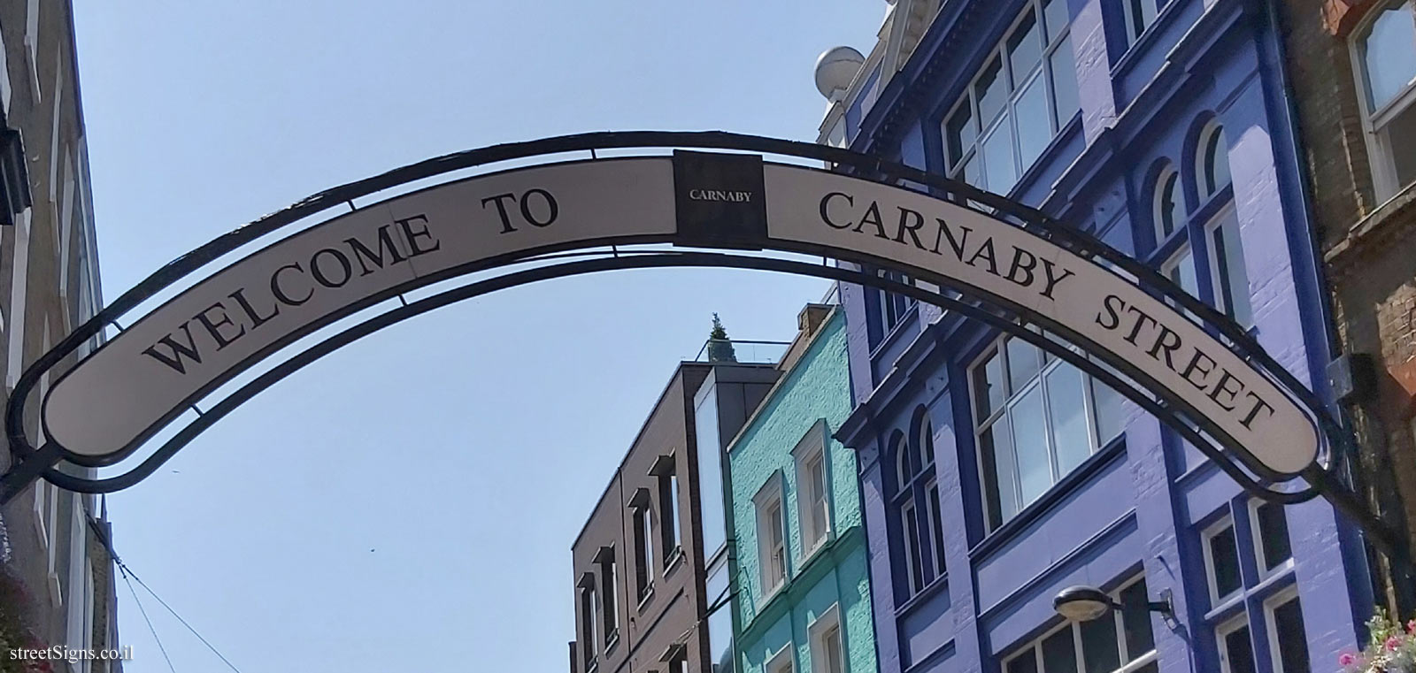 London -  The sign posted on Carnaby Street