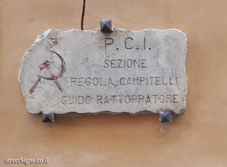 Rome - Commemorative plaque for Guido Rattoppatore