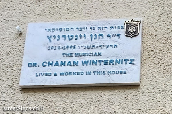Dr Chanan Winternitz - Plaques of artists who lived in Tel Aviv